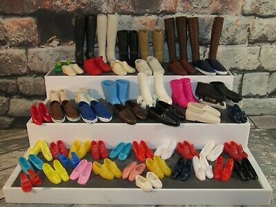 Vintage Lot of 49 Pairs Barbie Doll Shoes Heels Wedges Accessories
