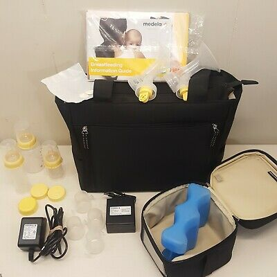 Medela Breast Pump in Style Advanced Double Electric Extras Cooler Tote Bag