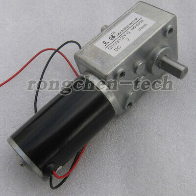DC12V 24V 8-160RPM Dual Shaft GW31ZY Worm Gear Motor with Gearbox For DIY Robot