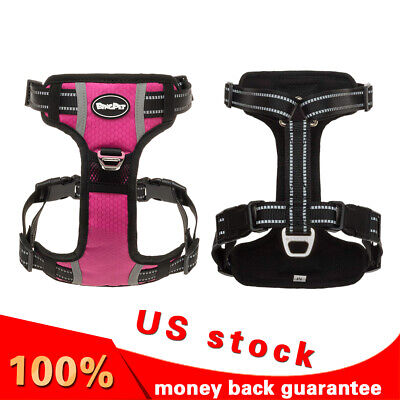 No Pull Dog Puppy Soft Mesh Harness - Small to Medium Dogs Pink - 3 Sizes