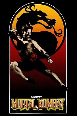 Mortal Kombat Classic Arcade Side Art Wall Poster Midway 24x36 inches