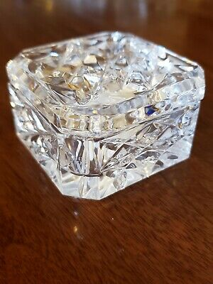WATERFORD Ireland Cut Lead Crystal 2000 WS Society Covered Trinket Box Gift