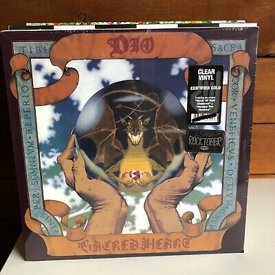 DIO Sacred Heart LP 2018 Rhino FACTORY SEALED NEW clear vinyl edition