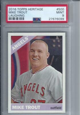 Mike Trout 2015 Topps Heritage SP PSA 9