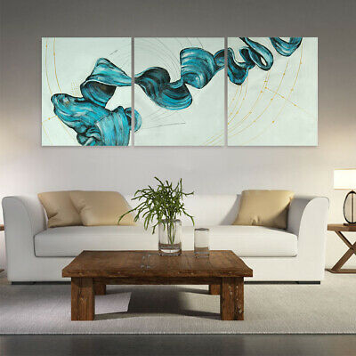 Modern Abstract Hand Painted Art Canvas Oil Painting Decor Framed - Ribbon