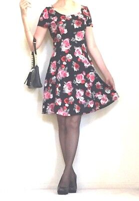 9a478d57c37b7 H&M DIVIDED CAT Mini Dress Size Small S Black And White Kitty New ...