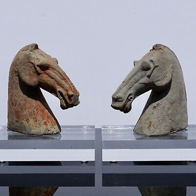 Pair of Han Dynasty Horse Heads (206BC - 220AD)