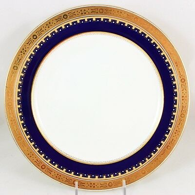 Best Gold Encrusted Cobalt Blue Enameled Dinner Plate Antique Minton China G3950