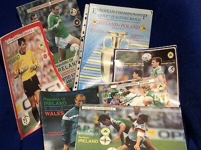 REPUBLIC OF IRELAND HOME PROGRAMMES  1989 to 1992 CHOOSE FROM LIST