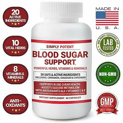 Blood Sugar Support Supplement 600mg/Capsule- Healthy Glucose, Insulin, Pancreas