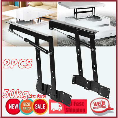 2x Lift Up Coffee Table Mechanism Hardware Top Lift Frame Furniture Spring Hinge
