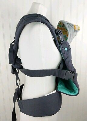 NWOT Infantino Cuddle Up Ergonomic Hoodie Carrier Grey Removable Hood 12-40 lbs