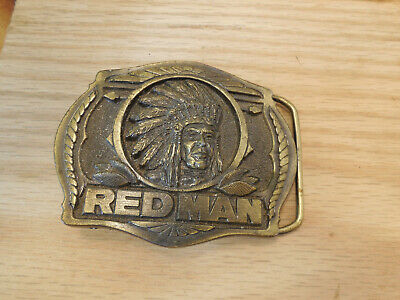 Limited Edition Red Man Belt Buckle Pinkerton Tobacco Company 1988 Vintage