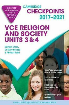 NEW Cambridge Checkpoints VCE Religion and Society Units 3 & 4 2017-21 By Damien