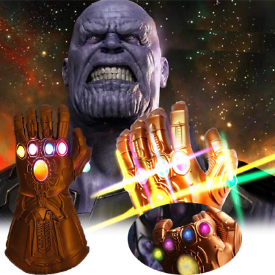 Avenge Infinity War Infinity Gauntlet LED Cosplay Thanos Gloves With LED ON NEW