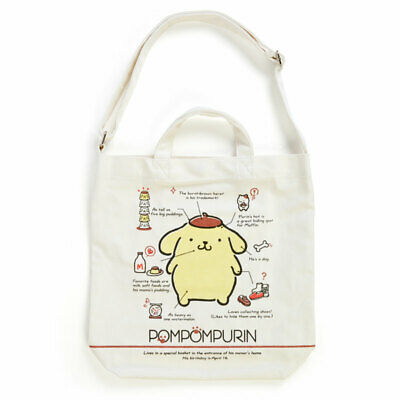 POMPOM PURIN 2WAY canvas tote bag profile Sanrio Kawaii Cute 2019 NEW F//S