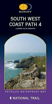 South West Coast Path 4 XT40: Lizard to Plym... by Harvey Maps Sheet map, folded