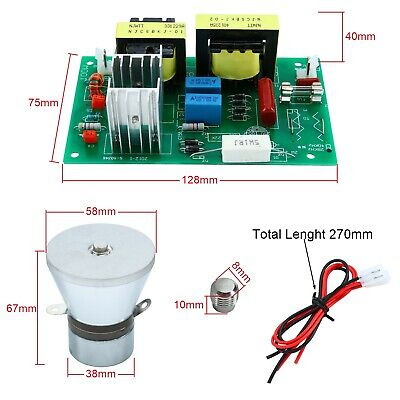 AC110V Power Driver Board + 100W 28KHz Ultrasonic Cleaning Transducer Cleaner