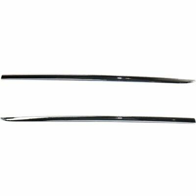 New Set of 2 Door Molding and Beltlines Rear Driver /& Passenger Side Lower Pair