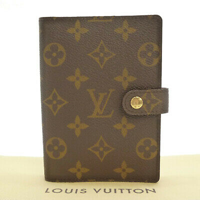 Auth LOUIS VUITTON Agenda PM Day Planner Cover Monogram Canvas R20005 #S161472