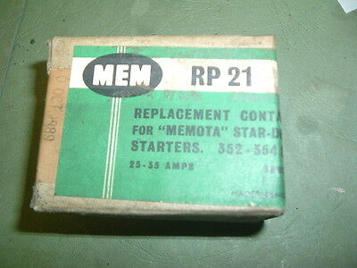 Mem .........Rp21 Memota Star Delta Replacement Contactors 25-35 Amp New Boxed