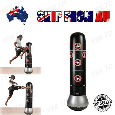 Inflatable Boxing Punching Bag Stand MMA Kick Martial Training With Air Pump VR3