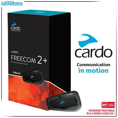 Cardo Freecom 2 Plus - Interfono Bluetooth Due Vie Moto e scooter con Audio HD