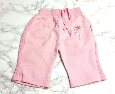 MOTHERCARE Baby GIRLS JOGGING BOTTOMS Age 0-3 Months Pink - GOOD CONDITION