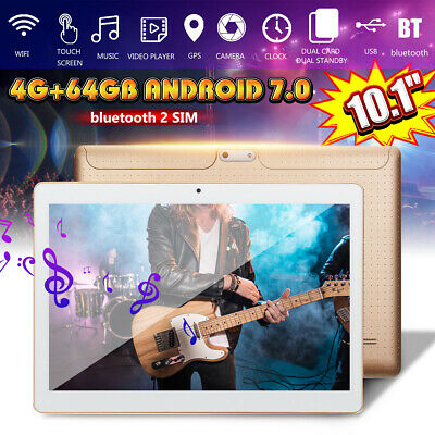 "10.1"" Tablet 4G+64GB Android 7.0 bluetooth Octa-Core Dual SIM & Camera PC HD"