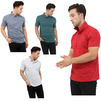 Mens Polo Shirts Short Sleeve Pique Slim Fit Summer Sports Casual Tee Tops Size