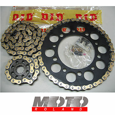 Kit Trasmissione Catena Ducati Monster 600 620 695 696 Nero Did 520 Dz2 Oro Pbr
