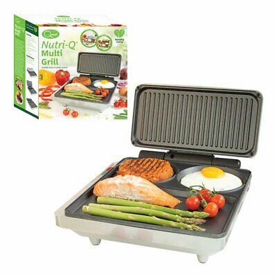Nutri-Q Healthy Electric Multi Grill Fold Out Griddle Press Hot Plate 1000W