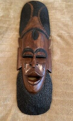 Hand Carved Decorative Solid Hard Wood Mask
