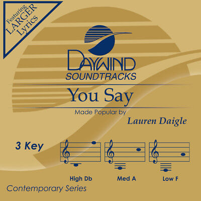 Lauren Daigle - You Say -  Accompaniment / Performance Track - New