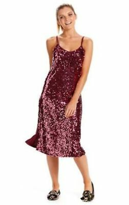 Ladies Peter Alexander Luxe Pink Champagne Sequin Slip  Size L   New with Tags
