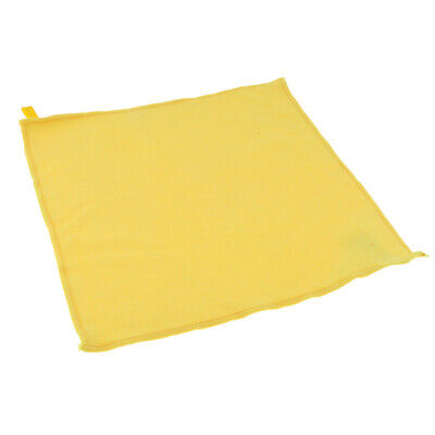 Microfiber Cleaning Towel Car Auto Dish Wash Dry Clean Polish Cloth Yellow