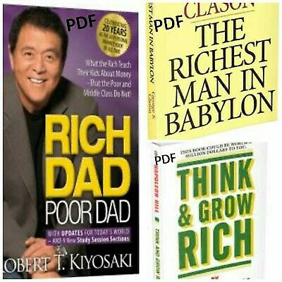 PACK 3x1 : Rich Dad Poor Dad + Think and grow rich + The Richest Man in Babylon