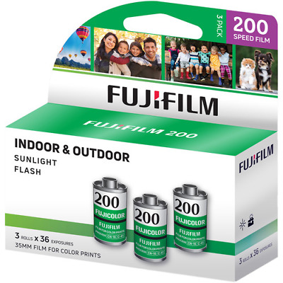 6 x Rolls FUJICOLOR 200 COLOR  NEG  Film--35mm/36 exps--BARGAIN--expiry: 05/2021