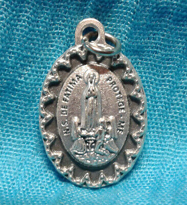 "MARY Scalloped Edge Series Our Lady of Fatima Medal 1"" Catholic 🙏  ITALY ✝️"