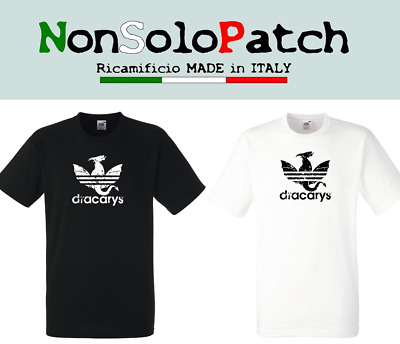 3807a92d8 T-SHIRT IL TRONO DI SPADE NOT TODAY Arya Stark GAME OF THRONES Adidas  Dracarys