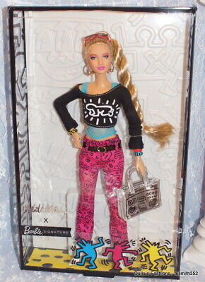 Keith Haring X Barbie Dressed Doll Articulated Body Goddess Face Sculpt NRFB