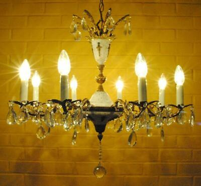 Gorgeous vintage eight-light empire-style chandelier +++