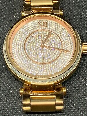 d14ca23a337c Michael Kors MK5868 Women s Watch Crystal Pave Dial Rose Gold Roman Numeral  B201