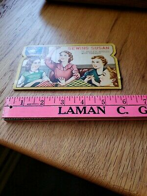 Sewing Susan Gold Eye Needles Package  Vintage Graphics
