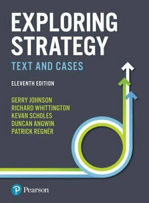 Exploring Strategy Text and Cases by Gerry Johnson 9781292145129 | Brand New