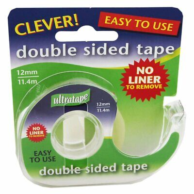 Double Sided Tape 12mm X 11.4m Home School Packing Strong Quality Sellotape