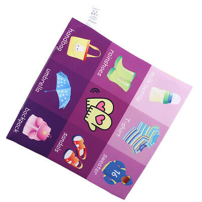 Toddlers Cloth Books Jiugongge Pattern Educational Cognitive Learning Toys 6A