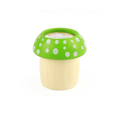 Toddlers Kaleidoscope Wood Mushroom Pattern Kaleidoscopes Kids Creative Toys 6A