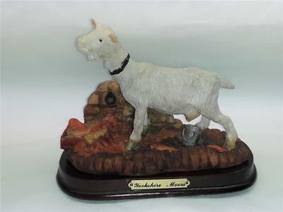A Model of a Yorkshire Moors Goat on  wooden plinth