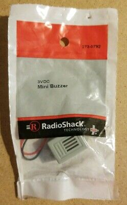 NEW! RadioShack 3VDC Mini Buzzer 2730792 *FREE SHIPPING*